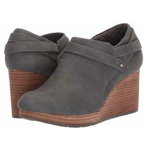 Dr Scholl's What's good grey wedge ankle bootie